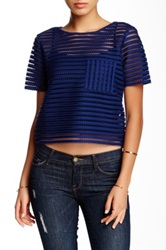 Romeo And Juliet Couture Mesh Blouse Blue