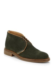Saks Fifth Avenue Suede Chukka Boots Olive