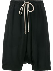 Rick Owens Drawstring Pod Shorts Black