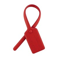 Off White Ziptie Charm Red