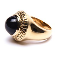 Puck Wanderlust Black Onyx Power Ring Gold Black Gold