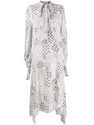 By Malene Birger Pussy Bow Patterned Dress 60