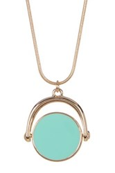 14Th And Union Enamel Disc Reversible Pendant Necklace Green