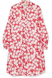 Paul And Joe Trotinne Floral Print Cotton Mini Dress Red
