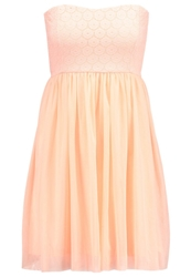 Only Onlprincess Cocktail Dress Party Dress Pale Neon Orange