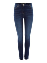 Biba Stevie Super Stretch Skinny Jeans In Mid Wash Blue Wash