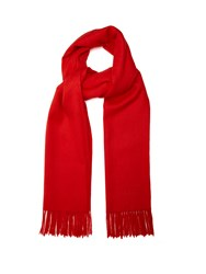 Mulberry Fringed Wool Scarf Red