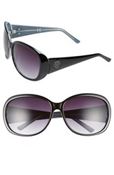 Women's Vince Camuto 64Mm Oval Sunglasses Black