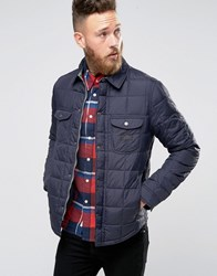 Lee Quilted Shirt Jacket Navy Darkness Navy Darkness
