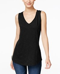 Inc International Concepts V Neck Tank Top Only At Macy's Deep Black