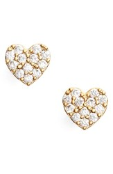 Estella Bartlett Women's Barlett Shine Bright Heart Stud Earrings