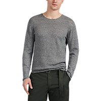 Inis Meain Linen Wool Sweater Light Gray