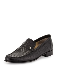 Crocodile Leather Loafer Black Stefano Ricci