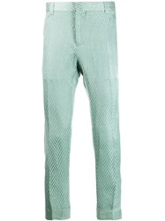 Haider Ackermann Slim Fit Chevron Trousers Green