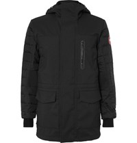 Canada Goose Selwyn Quilted Shell And Canvas Hooded Down Coat Black