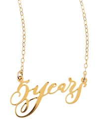 5 Years Anniversary Calligraphy Necklace Brevity Gold