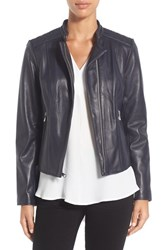 Marc New York Women's By Andrew 'Liv' Lambskin Leather Jacket Ink