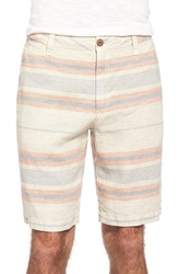 Tailor Vintage Stripe Linen Walking Shorts Pumice