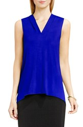 Vince Camuto Women's Sleeveless V Neck Top Optic Blue