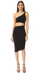 Bec And Bridge Onyx Asymmetrical Dress Black