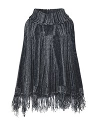 George J. Love Coats And Jackets Capes And Ponchos Dark Blue