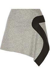 Just Cavalli Asymmetric Wool Blend Mini Skirt Gray