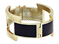 House Of Harlow Coronado Buckle Hinge Bracelet Gold Black Bracelet