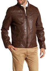 Andrew Marc New York Maurice Leather Jacket Brown