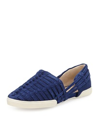 Elliott Lucca Rani Woven Suede Slip On River