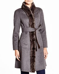 Maximilian Reversible Belted Coat With Mink Trim Bloomingdale's Exclusive