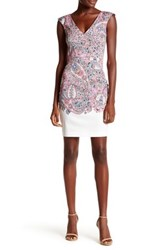 French Connection Sundown Border Dress Pink