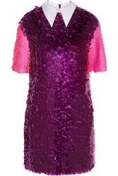 House Of Holland Paillette Embellished Tulle Mini Dress Purple