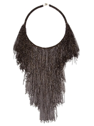 Rosantica 'Supernova' Beaded Fringe Necklace Black