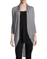 Eileen Fisher Sleek Knit Long Cocoon Cardigan Women's Black