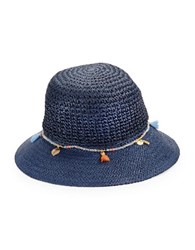 Echo Knit Bucket Hat Deep Blue