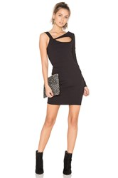 Twenty Cut Out One Sleeve Dress Black