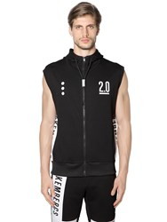 Bikkembergs Logo Print Cotton Sleeveless Sweatshirt