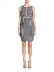 Lafayette 148 New York Mariana Tweed Dress Navy Multi