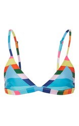 Mara Hoffman Rainbow Stripe Triangle Bikini Top