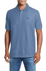 Tommy Bahama Men's Big And Tall 'The Emfielder' Pique Polo Buccaneer Blue