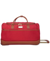 Jessica Simpson Classic Preppy Rolling Duffel Bag Red