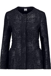 Iris And Ink Sabana Metallic Tweed Jacket Midnight Blue
