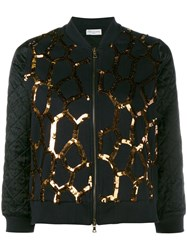 Dries Van Noten Hoezee Sequinned Zip Up Jacket Black