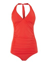 Dickins And Jones Spot Swimsuit Red
