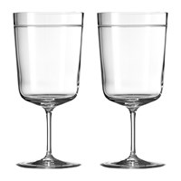 Vera Wang Wedgwood Bande Beverage Glasses Set Of 2
