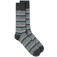 Anonymous Ism Zig Zag Links Crew Sock Grey
