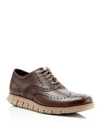 Cole Haan Zerogrand Wingtip Oxfords Dark Brown
