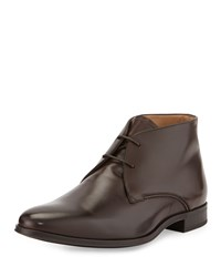 Lellio Leather Ankle Boot Brown Bally Red