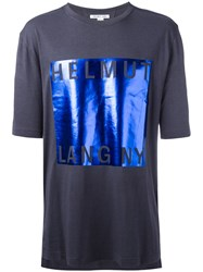 Helmut Lang Metallic Square T Shirt Blue