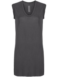 Rick Owens Oversized Tank Top Grey